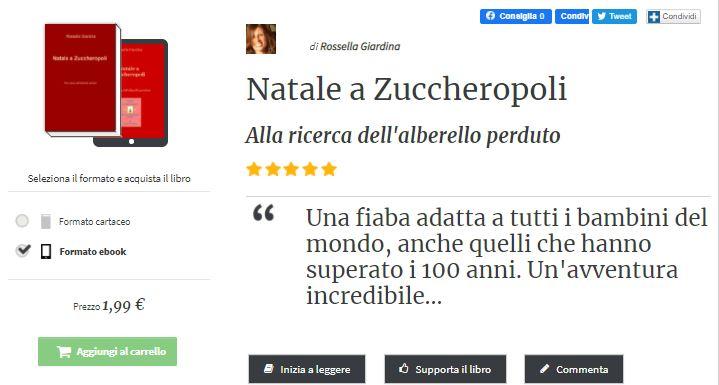 """Nuova recensione alla mia fiaba """"Natale a Zuccheropoli"""""""
